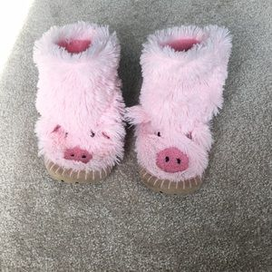 Hayley Fuzzy Bootie Slippers Size 8-10/M